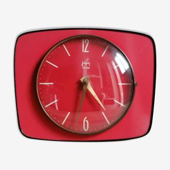 Vintage red formica clock