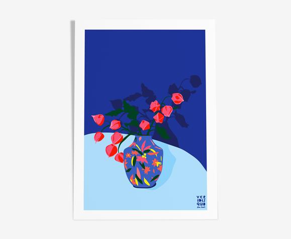 Hana  - illustration en édition limitée, format a4 (veridis quo, elisa brouet)