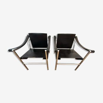 Paire de fauteuils LC1 Le Corbusier