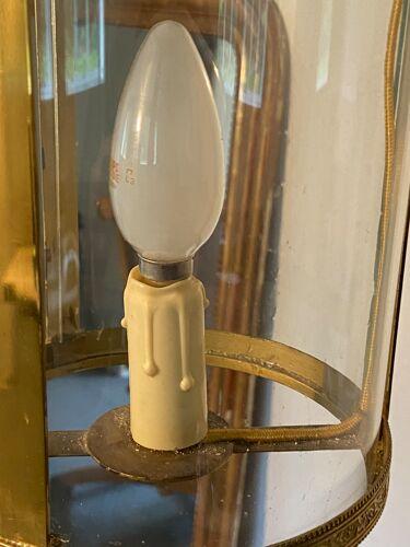 Lustre rond 1 ampoule métal et verre