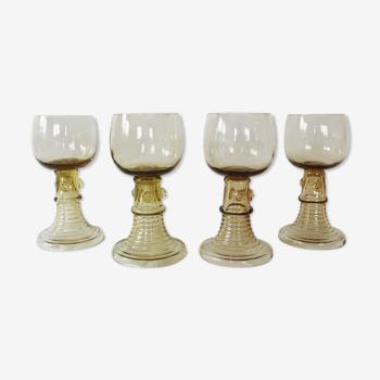 Set de 4 verres à vin blanc Roemer