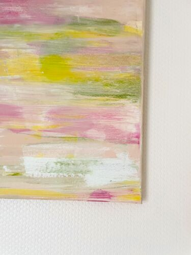 Toile abstraite tons pastels