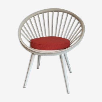 Scandinavian vintage armchair Circle Chair 1960 Yngve Ekström