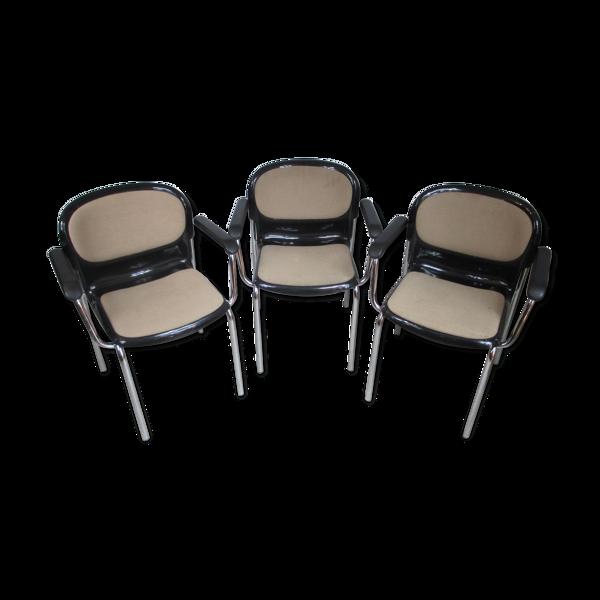 Ensemble de trois chaises par G. Lange Allemagne années 1980