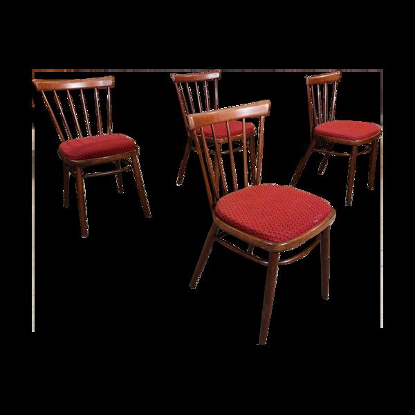 Série de 4 chaises Antonin Suman pour Tatra Nabytok
