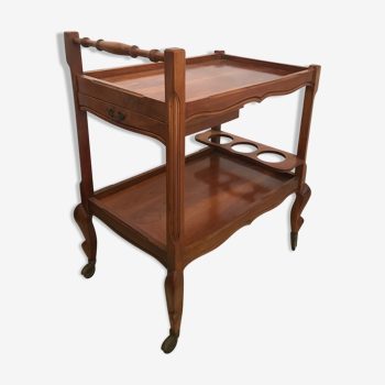 Wooden serving table