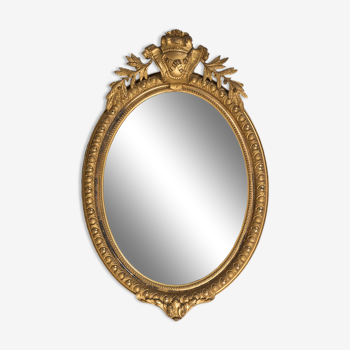 Miroir ovale du 19e siècle