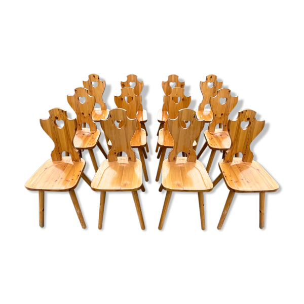 Selency Lot 12 chaises de montagne vintage 1993'