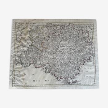Carte de provence et des terrtoires adjacents 1715