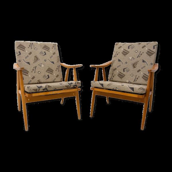 Paire de fauteuils par Jaroslav Šmídek pour Ton, années 1970