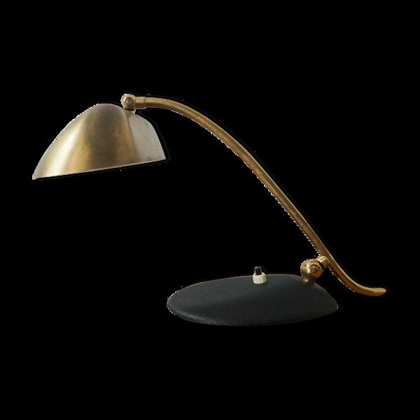Lampe en laiton de bureau, années 1950