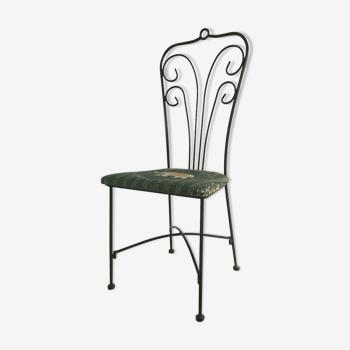 Chaise de jardin acier motif eléphant
