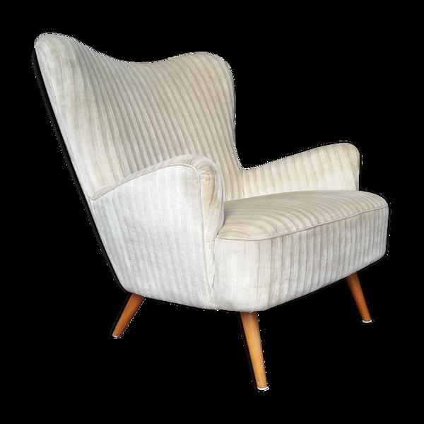 Fauteuil organic wingback chairs des années 50-60 vintage