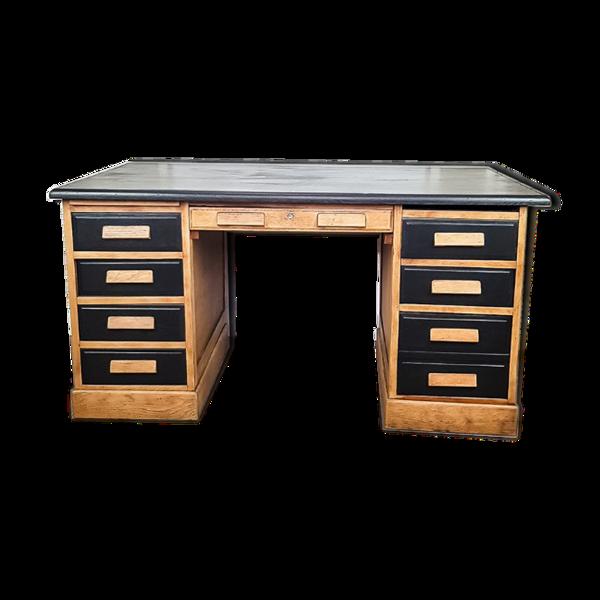 Selency Bureau à tiroirs vintage relooké