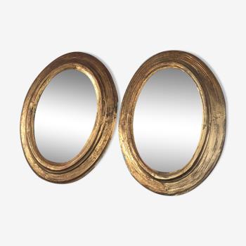 Miroirs ovales XIXe siècle