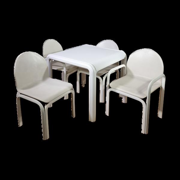 Selency Ensemble table, 2 fauteuil , 2 chaises, Orsay par Gae Aulenti, Knoll, 1975
