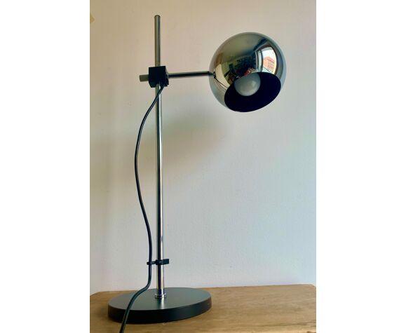 Lampe de table chromée allemande du personnel, années 1970