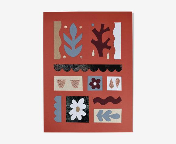 Les Terrasses illustration collage