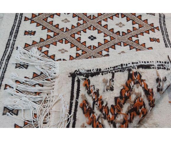 Tapis mergoum beige fait main  70x130cm