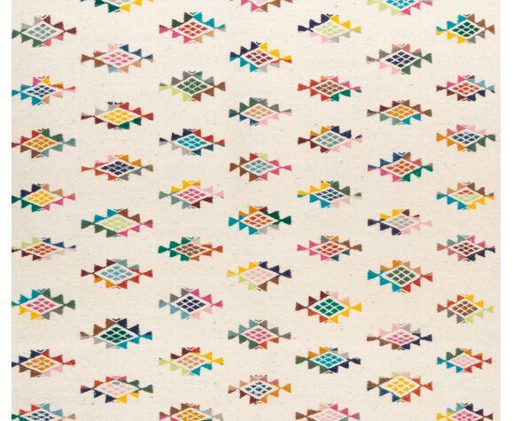 Kilim berbere avec motifs colores 200 x 150 cm