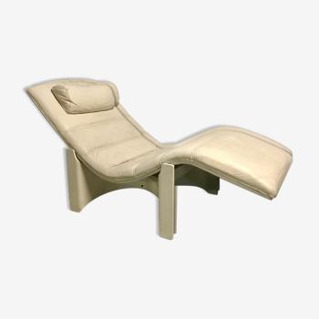 Chaise longue cuir