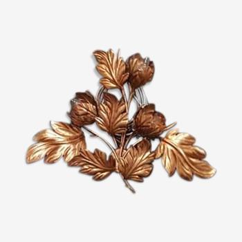 Wall light gold metal flower