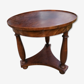 Table basse ronde noyer