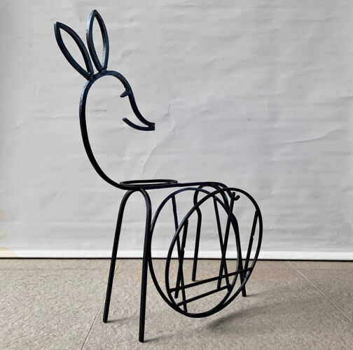 Bambi porte-revues et porte-plante vintage, 1960