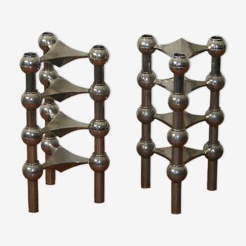 Série de 8 bougeoirs modulables Nagel 1970