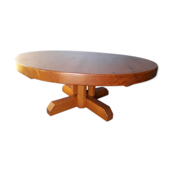Selency Table basse ep 1960 bois massif chalet montagne