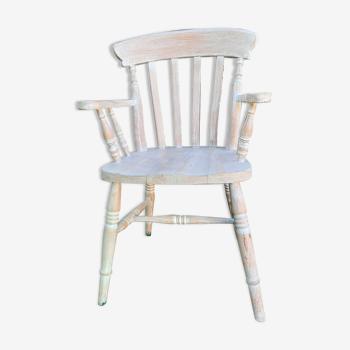 Chaise bois massif cérusé campagne chic