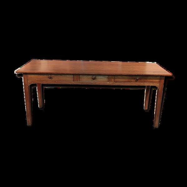 Table de ferme en frêne XIXème