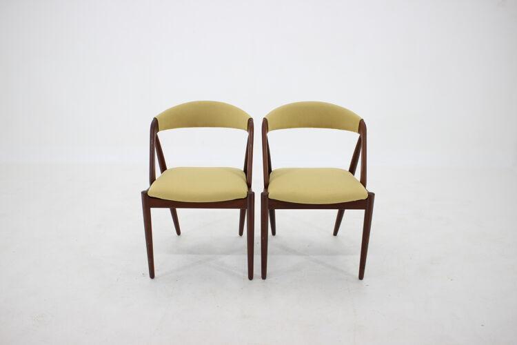 1960s Kai Kristiansen Teck Chaises à manger Modèle 31 pour Shou Andersen, Danemark, Ensemble de 6