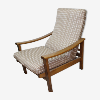 Scandinavian vintage armchair - reclining back