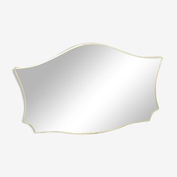 Miroir rétroviseur forme libre vintage 47x30cm