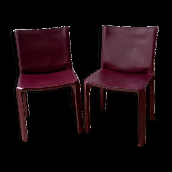 Paire de chaises Cassina 412 CAB