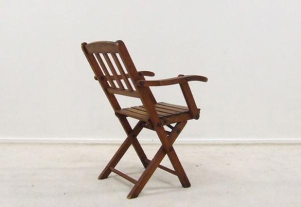 Foldable vintage children's chair 1950s