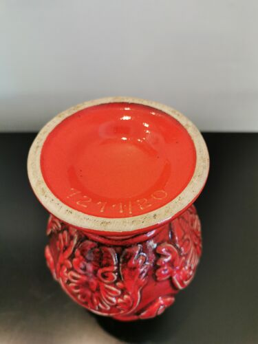 Vase West Germany rouge