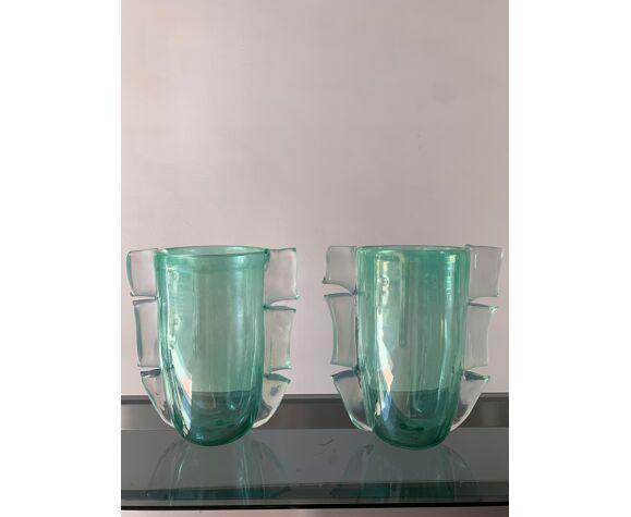 Paire de vases Murano 1990