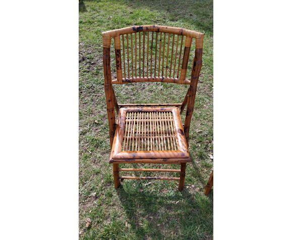 Set de 2 chaises bambou pliantes