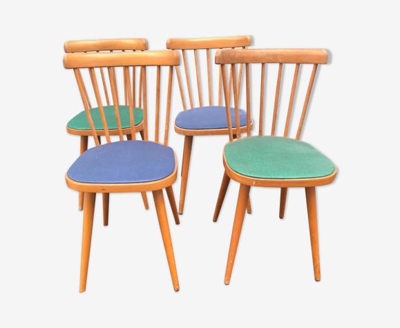 Set de 4 chaises bistrot Baumann