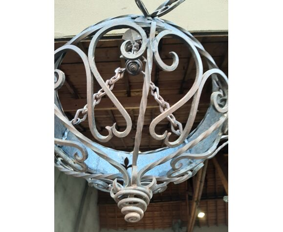 Ancient wrought iron chandelier