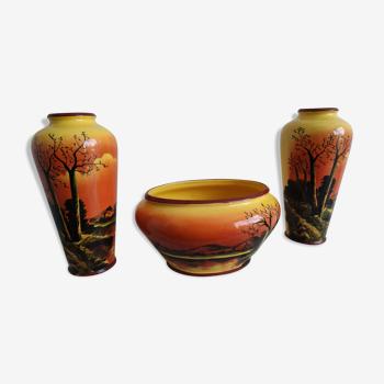 Lot de 3 vases de style provençal