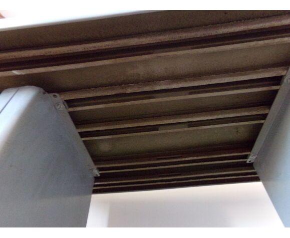 Steel industrial desk