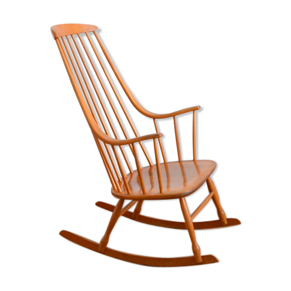 Selency Rocking chair scandinave « Grandessa », Lena Larsson 1960