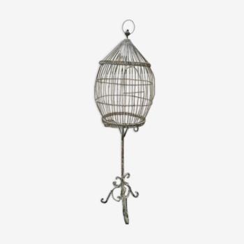 Cage à oiseaux sur pied en fer