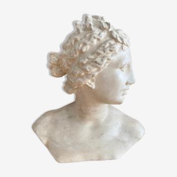 Buste de femme en plâtre