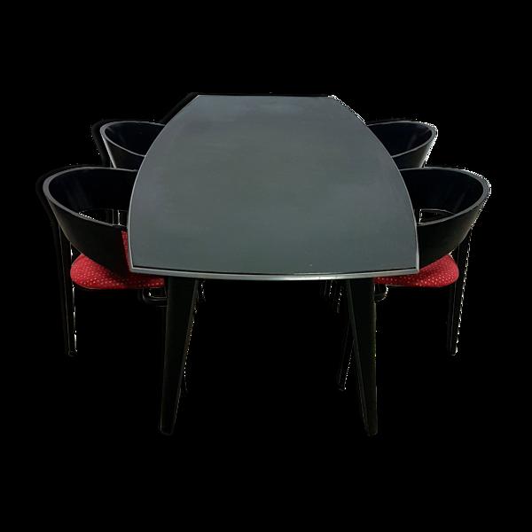 Table et chaises par Castelijn, Pays-Bas des années 1980