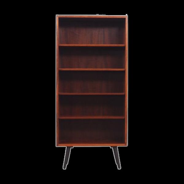 Bibliothèque en palissandre, design danois, années 1960, fabricant: Hundevad