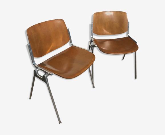 Paire de chaises par Giancarlo Piretti